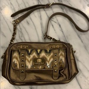 Sharif 1827 Leather Studded Sequin accented Bag